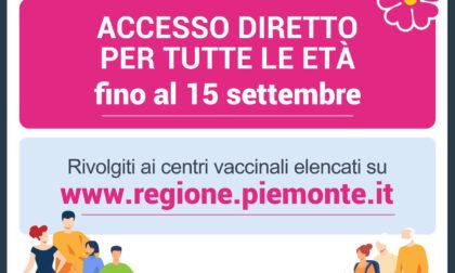 Fino al 15 settembre accesso diretto agli hub vaccinali per tutte le età