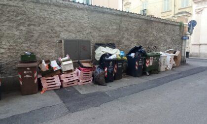 Città allo sbando: cassonetti e cestini pieni, giungla e foglie non raccolte